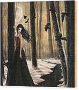 Lunar Lament Wood Print