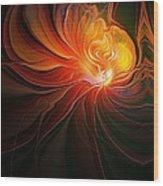 Lunar Lotus Wood Print