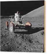 Lunar Ride Wood Print