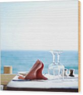 Lunch On The Beach Wood Print