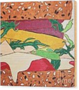 Lunch Time Wood Print