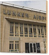 Lunken Airport In Cincinnati Ohio Wood Print
