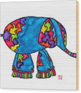 Lupita Elephant Wood Print