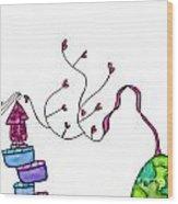 Lupita Finds A Way Purple 2 Wood Print