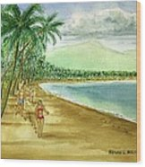 Luquillo Beach And El Yunque Puerto Rico Wood Print