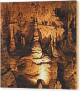 Luray Caverns - 1212118 Wood Print by DC Photographer