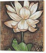 Lure Of The Lotus Wood Print by VLee Watson