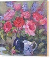 Luscious Roses Wood Print