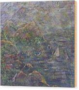 Lush Coast Wood Print