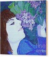 Lush Lilacs Wood Print