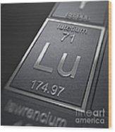 Lutetium Chemical Element Wood Print