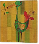 Lutgarde's Bird - 061109106-wyel Wood Print by Variance Collections