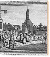 Lutheran Wedding, 1700s Wood Print by Granger