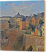Luxembourg Fortification Wood Print