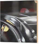 Luxury Black Car Blur Bokeh Wood Print