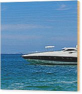 Luxury Boat Wood Print by Aged Pixel