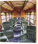 Luxury Lounge Car Of Early Railroading Wood Print