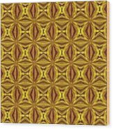 Luxury Red And Gold Christmas Kaleidoscope Wood Print