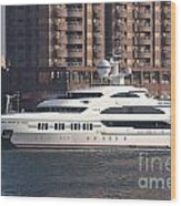 Luxury Yacht Visits Kaohsiung Port Wood Print