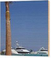 Luxury Yachts 03 Wood Print