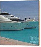 Luxury Yachts 04 Wood Print