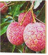 Lychee Fruit  Wood Print