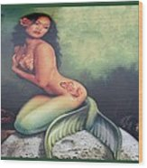 Lydia The Tattooed Mermaid Wood Print
