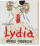 Lydia, Us Poster, Merle Oberon, 1941 Wood Print