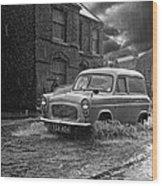Lye Rain Storm, Ford Prefect Van - 1960's    Ref-244 Wood Print