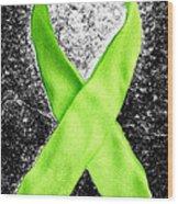 Lyme Disease Awareness Ribbon Wood Print