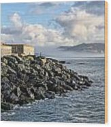 Lyme Regis - View Towards Charmouth Wood Print