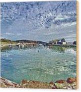 Lyme Regis Harbour -- Painterly Wood Print