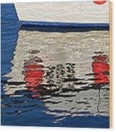 Lyme Regis Harbour - December Wood Print