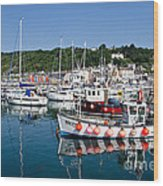Lyme Regis Harbour On A July Morning Wood Print