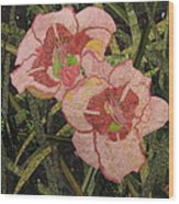 Lynda's Daylilies Wood Print