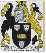 Lyndon Coat Of Arms Irish Wood Print