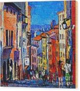 Lyon Colorful Cityscape Wood Print