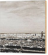 Lyon From The Basilique De Fourviere Wood Print