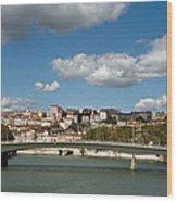 Lyon View Wood Print