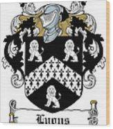 Lyons Coat Of Arms Westmeath Irish Wood Print