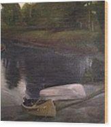 Lyons Falls  - Moose River Wood Print