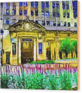 Lyric Opera House Of Chicago Wood Print