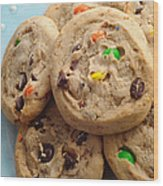 M And M - Chocolate Chip - Cookies - Bakery Shop Wood Print
