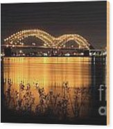 The Hernando De Soto Bridge M Bridge Or Dolly Parton Bridge Memphis Tn  Wood Print