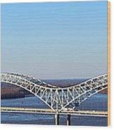 M Bridge Memphis Tennessee Wood Print