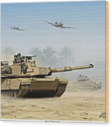 M1a2 Abrams Wood Print by Mark Karvon