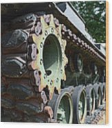 M60 Patton Artillery Tank Tread Wood Print