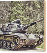 M60 Patton Tank Wood Print by Olivier Le Queinec