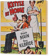 Ma And Pa Kettle At Home, Us Poster Wood Print