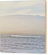 Maalaea Morning Surf Wood Print